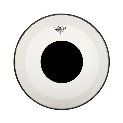 Remo Powerstroke 3 Bass Drum Head - Coated, Black Dot