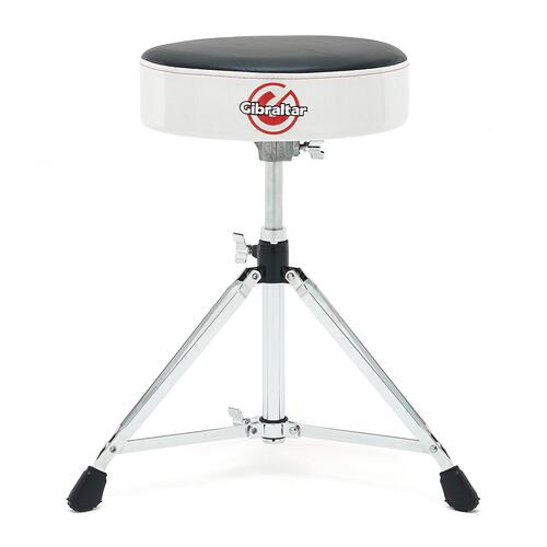 Gibraltar 6608RSW Throne, Round Seat, White Sparkle