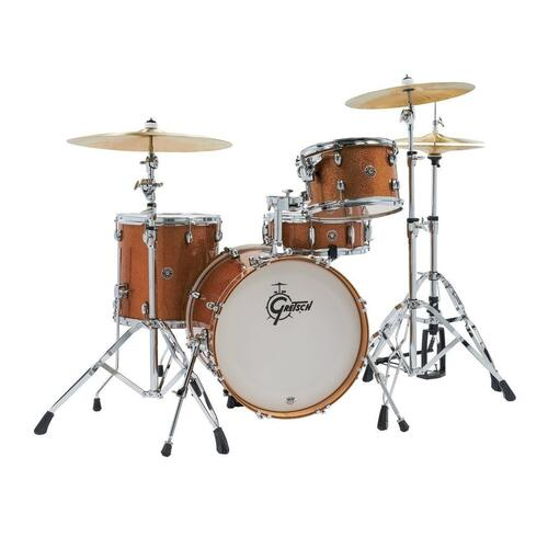 """Gretsch 12"""", 14"""", 18"""" Catalina Club Shell Pack in Bronze Sparkle Finish"""