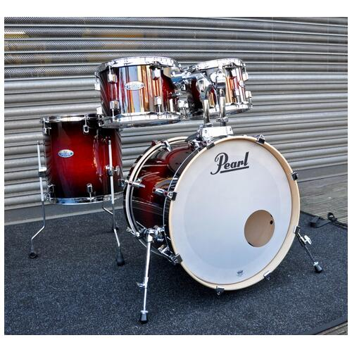 Pearl Decade Shell pack Fusion in Gloss Deep red burst 10,12,14,20 bd
