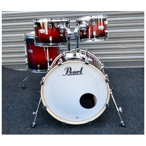 Image 2 - Pearl Decade Shell Pack Fusion in Gloss Deep Red Burst 10, 12, 14, 20 bassdrum