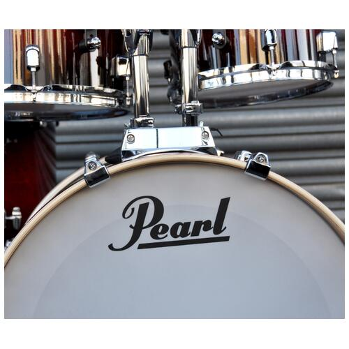 Image 3 - Pearl Decade Shell Pack Fusion in Gloss Deep Red Burst 10, 12, 14, 20 bassdrum