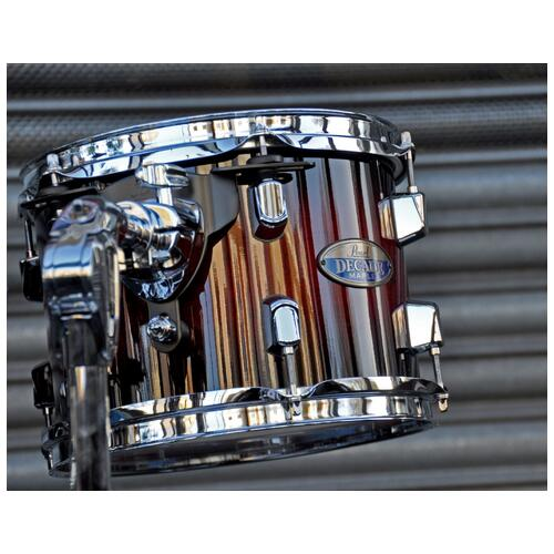 Image 4 - Pearl Decade Shell Pack Fusion in Gloss Deep Red Burst 10, 12, 14, 20 bassdrum