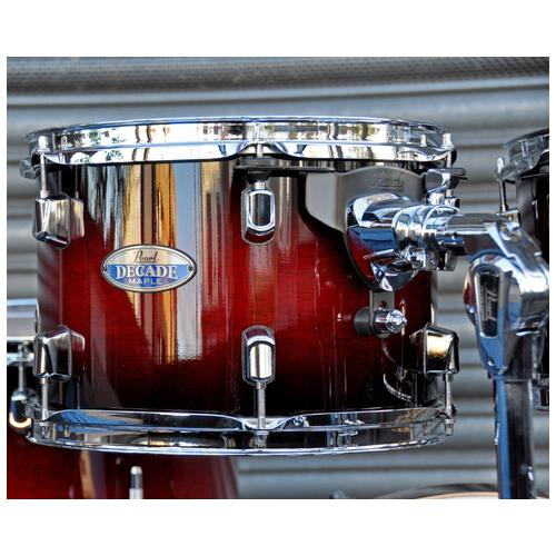 Image 5 - Pearl Decade Shell Pack Fusion in Gloss Deep Red Burst 10, 12, 14, 20 bassdrum