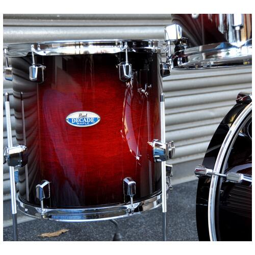 Image 7 - Pearl Decade Shell Pack Fusion in Gloss Deep Red Burst 10, 12, 14, 20 bassdrum