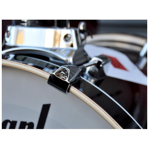 Image 8 - Pearl Decade Shell Pack Fusion in Gloss Deep Red Burst 10, 12, 14, 20 bassdrum