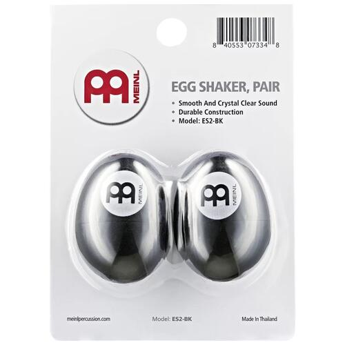 Meinl Egg Shaker, Pair, Black