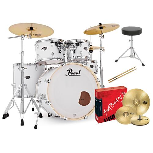 Image 8 - Pearl EXX Export Fusion Drum Kit with Sabian Cymbals + FREE STICKS AND THRONE