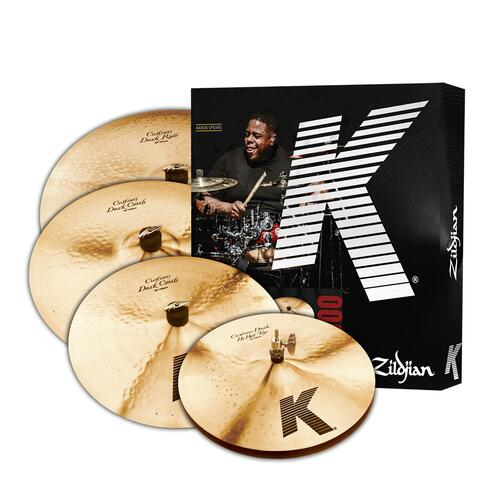 "Zildjian K Custom Dark Box Set, 14"" Hi Hats, 16"" Crash, 20"" Ride"