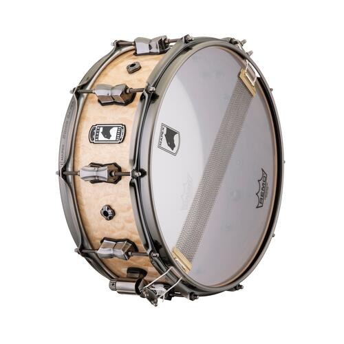 "Image 4 - Mapex Black Panther 14"" PEGASUS Maple / Walnut Snare Drum BPNMW4550LXN"