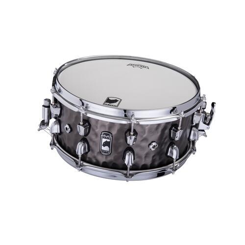 """Image 2 - Mapex Black Panther PERSUADER 14""""x6.5"""" Hammered Brass Snare drum BPNBR465HCN"""