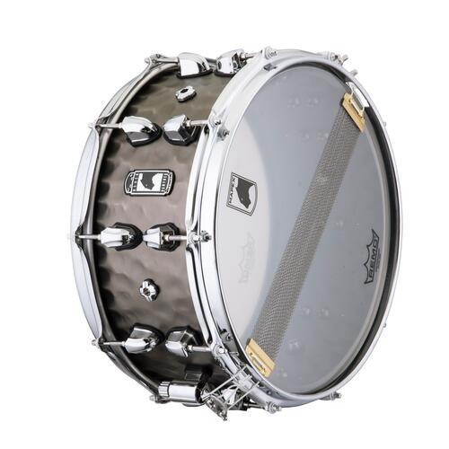"""Image 3 - Mapex Black Panther PERSUADER 14""""x6.5"""" Hammered Brass Snare drum BPNBR465HCN"""