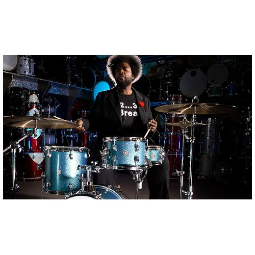Image 3 - Ludwig Questlove Breakbeats Shell Pack - Azure Sparkle