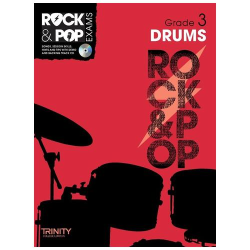Trinity Rock & Pop Exam Book: Drums Grade 3