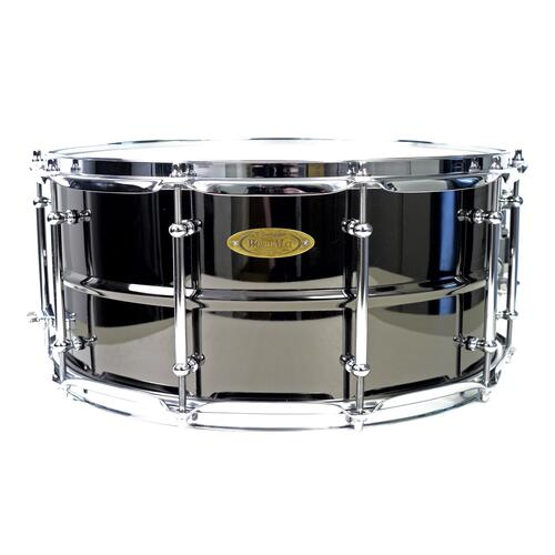 Worldmax 14 x 6.5 Black Brass Snare Drum – Chrome Hardware WMS BK-6514SH