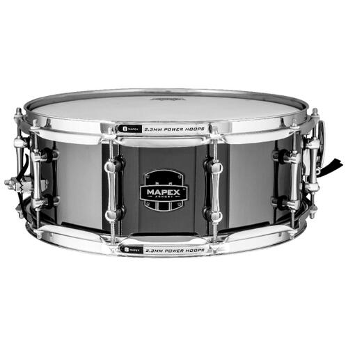 "Mapex Tomahawk Snare drum 14""x5.5"" Polished Steel Shell"