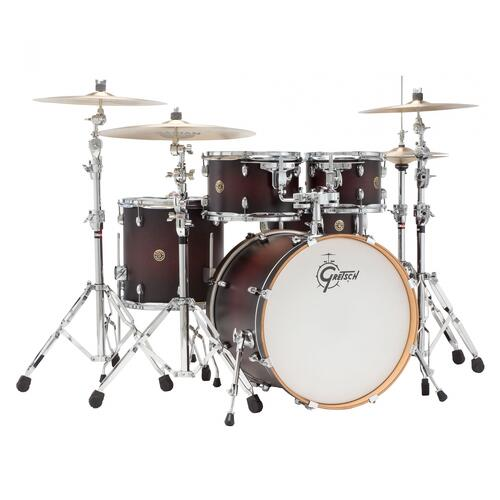"Gretsch Catalina Maple 22"" 5 Piece Shell Pack (Satin Dark Cherry Sunburst)"