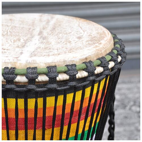 """Image 2 - Powerful Drums 13"""" Premium Djembe With Weaving"""