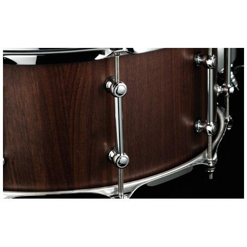 """Image 4 - Tama S.L.P. 14""""x 6.5"""" Walnut Snare Drum Matte Black(LGW1465-MBW)"""