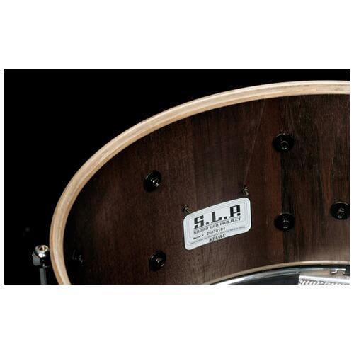 """Image 2 - Tama S.L.P. 14""""x 6.5"""" Walnut Snare Drum Matte Black(LGW1465-MBW)"""