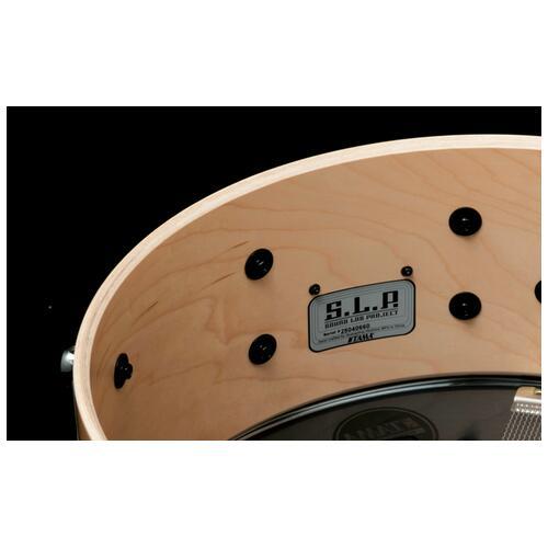 """Image 2 - Tama S.L.P. 14"""" x 5.5"""" Classic Maple Snare Drum (LMP1455-SMP)"""