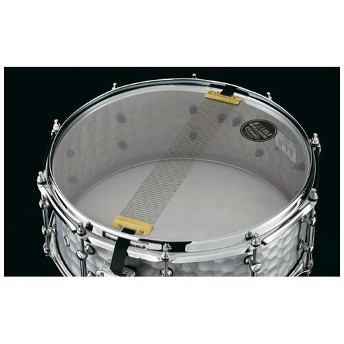 "Image 5 - Tama S.L.P. 14""x 5.5"" Series Vintage Hammered Steel Snare Drum (LST1455H)"