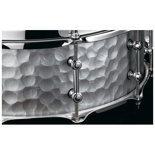 "Image 4 - Tama S.L.P. 14""x 5.5"" Series Vintage Hammered Steel Snare Drum (LST1455H)"