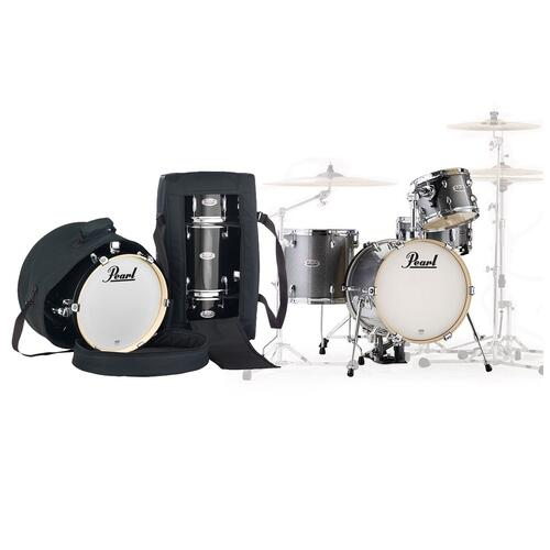 Pearl Midtown 4 Piece Shell Pack with Drum Cases in Grindstone Sparkle
