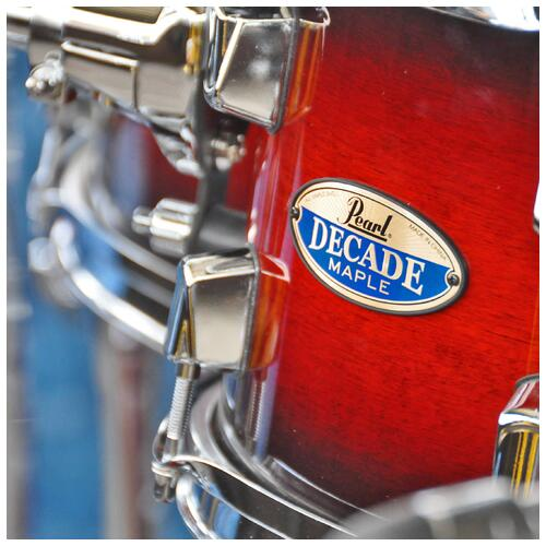 Image 13 - Pearl Decade Maple Fusion 6 piece Shellpack , Gloss Deep Red Burst 8, 10, 12, 14, 20bd 14 snare