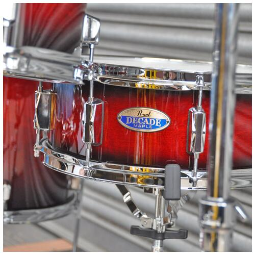 Image 14 - Pearl Decade Maple Fusion 6 piece Shellpack , Gloss Deep Red Burst 8, 10, 12, 14, 20bd 14 snare