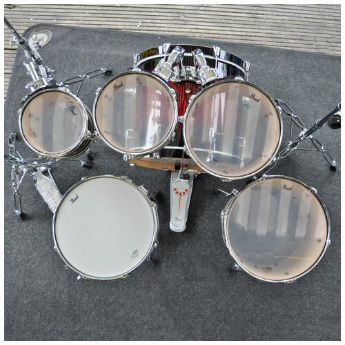 Image 17 - Pearl Decade Maple Fusion 6 piece Shellpack , Gloss Deep Red Burst 8, 10, 12, 14, 20bd 14 snare