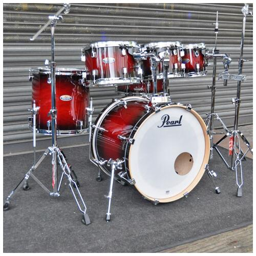 Image 1 - Pearl Decade Maple Fusion 6 piece Shellpack , Gloss Deep Red Burst 8, 10, 12, 14, 20bd 14 snare