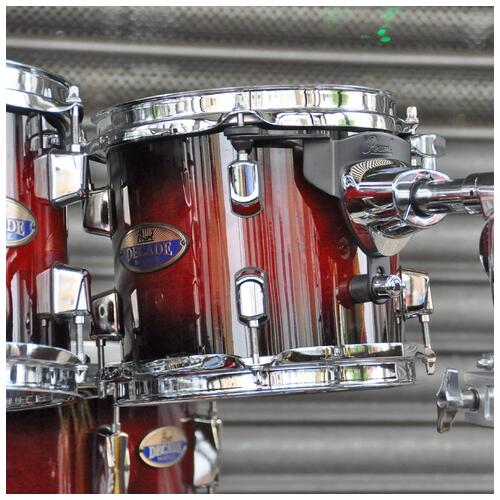 Image 3 - Pearl Decade Maple Fusion 6 piece Shellpack , Gloss Deep Red Burst 8, 10, 12, 14, 20bd 14 snare