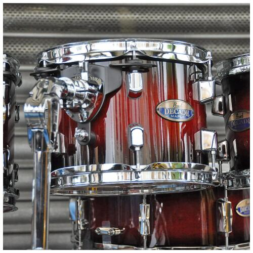 Image 4 - Pearl Decade Maple Fusion 6 piece Shellpack , Gloss Deep Red Burst 8, 10, 12, 14, 20bd 14 snare