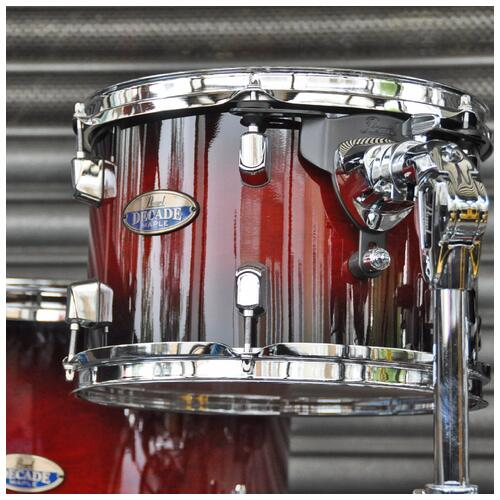Image 5 - Pearl Decade Maple Fusion 6 piece Shellpack , Gloss Deep Red Burst 8, 10, 12, 14, 20bd 14 snare