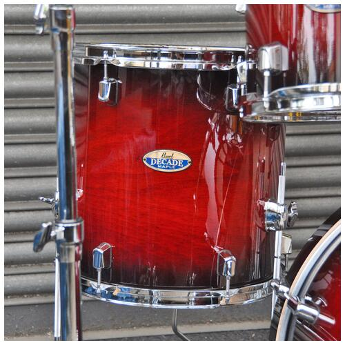 Image 8 - Pearl Decade Maple Fusion 6 piece Shellpack , Gloss Deep Red Burst 8, 10, 12, 14, 20bd 14 snare