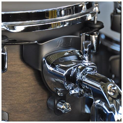 """Image 7 - Pearl 8"""", 10"""", 12"""", 14"""", 20"""" Decade Shell Pack with Snare in Satin Black Burst"""