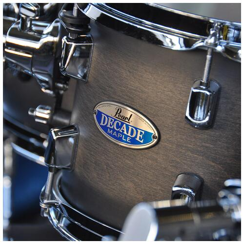 """Image 4 - Pearl 8"""", 10"""", 12"""", 14"""", 20"""" Decade Shell Pack with Snare in Satin Black Burst"""