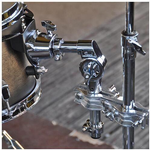"""Image 12 - Pearl 8"""", 10"""", 12"""", 14"""", 20"""" Decade Shell Pack with Snare in Satin Black Burst"""