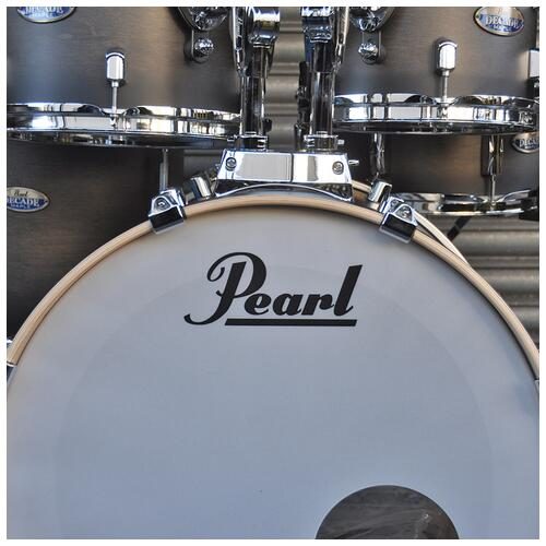 """Image 11 - Pearl 8"""", 10"""", 12"""", 14"""", 20"""" Decade Shell Pack with Snare in Satin Black Burst"""