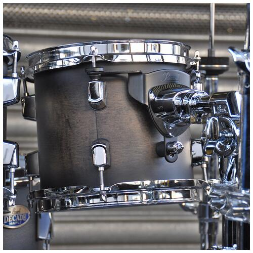 """Image 13 - Pearl 8"""", 10"""", 12"""", 14"""", 20"""" Decade Shell Pack with Snare in Satin Black Burst"""