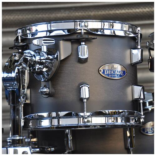"""Image 14 - Pearl 8"""", 10"""", 12"""", 14"""", 20"""" Decade Shell Pack with Snare in Satin Black Burst"""