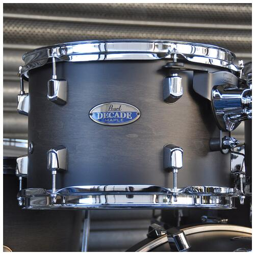 """Image 18 - Pearl 8"""", 10"""", 12"""", 14"""", 20"""" Decade Shell Pack with Snare in Satin Black Burst"""