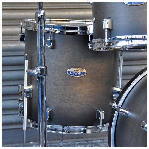 """Image 15 - Pearl 8"""", 10"""", 12"""", 14"""", 20"""" Decade Shell Pack with Snare in Satin Black Burst"""