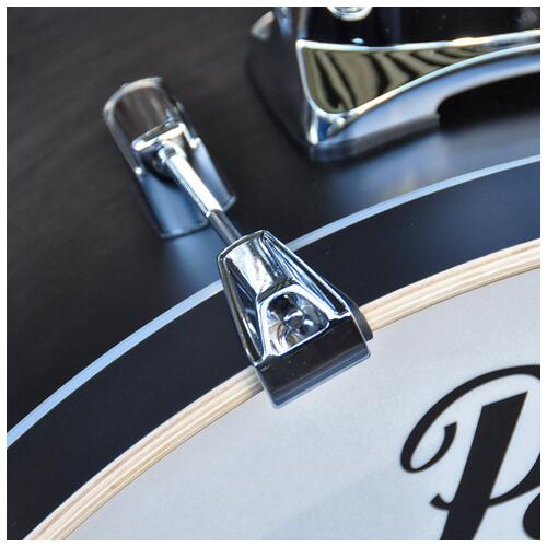 """Image 16 - Pearl 8"""", 10"""", 12"""", 14"""", 20"""" Decade Shell Pack with Snare in Satin Black Burst"""