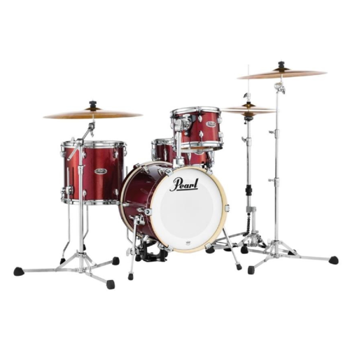 Image 3 - Pearl Midtown 4 Piece Shell Pack in Black Cherry Glitter