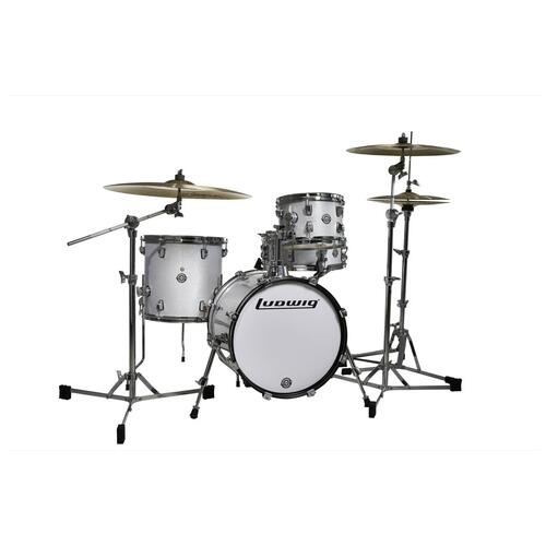 Image 3 - Ludwig Questlove Breakbeats Shell Pack - White Sparkle 10 13 16 bassdrum 14 Snare