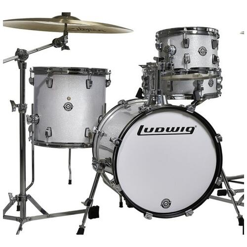 Image 4 - Ludwig Questlove Breakbeats Shell Pack - White Sparkle 10 13 16 bassdrum 14 Snare
