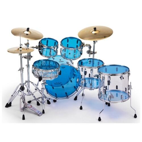 Image 3 - Remo Emperor Colortone Blue Drum Heads