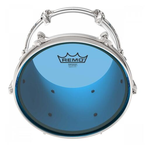 Image 2 - Remo Emperor Colortone Blue Drum Heads